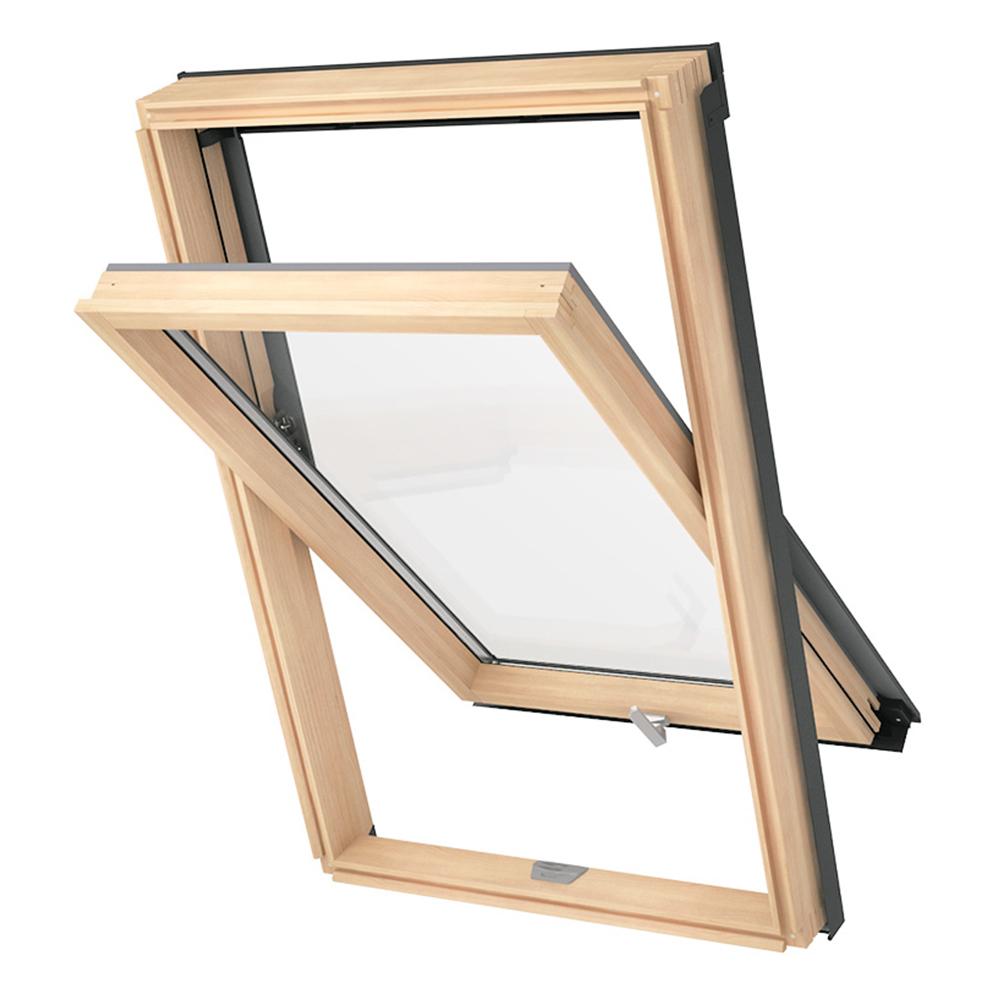 Schmaler Rahmen Holz mit Eindeckrahmen Solstro DPX B500 Dachfenster