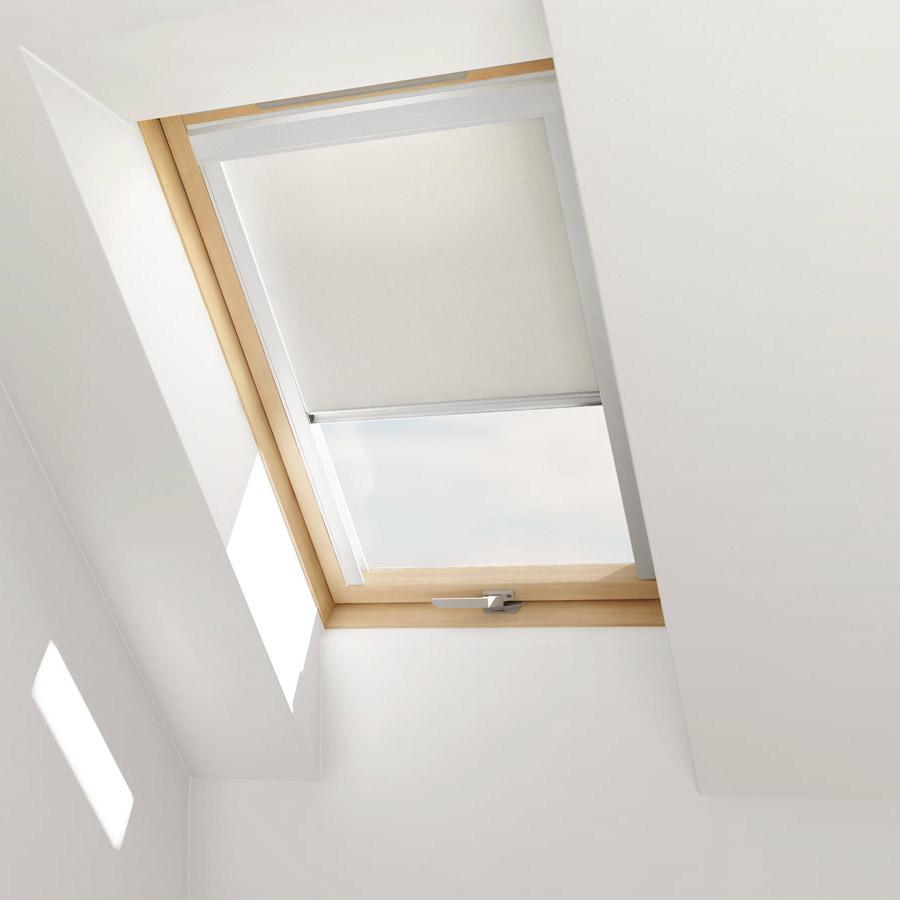 Dachfensterrollo für VELUX Dachfenster Verdunkelungsrollo Beige Blau Grau Weiss