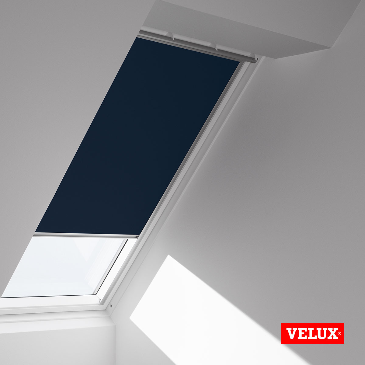 Genuine velux blackout blinds match your velux skylight for Velux window shades