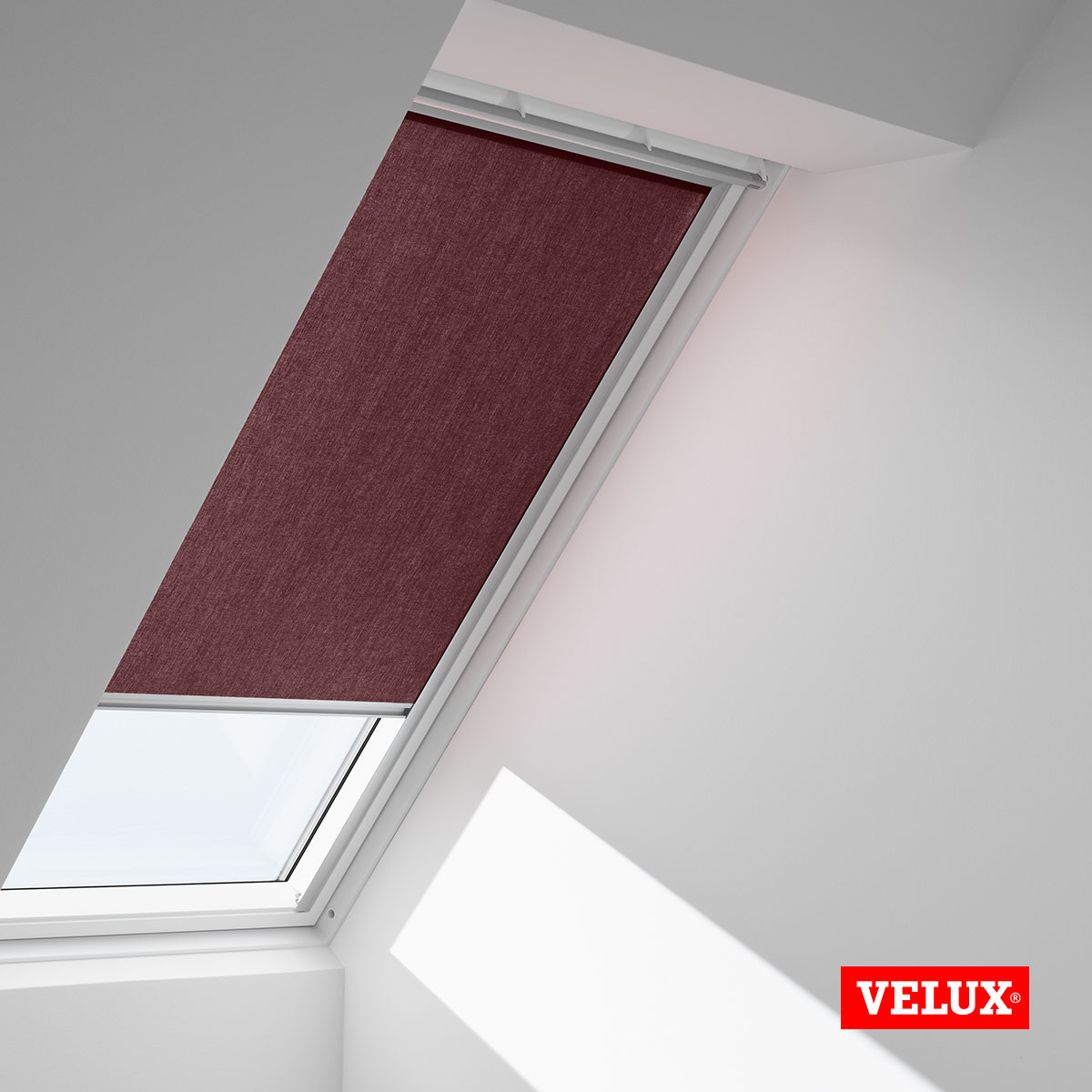 Genuine velux roller blinds made to match your velux roof for Velux window shades
