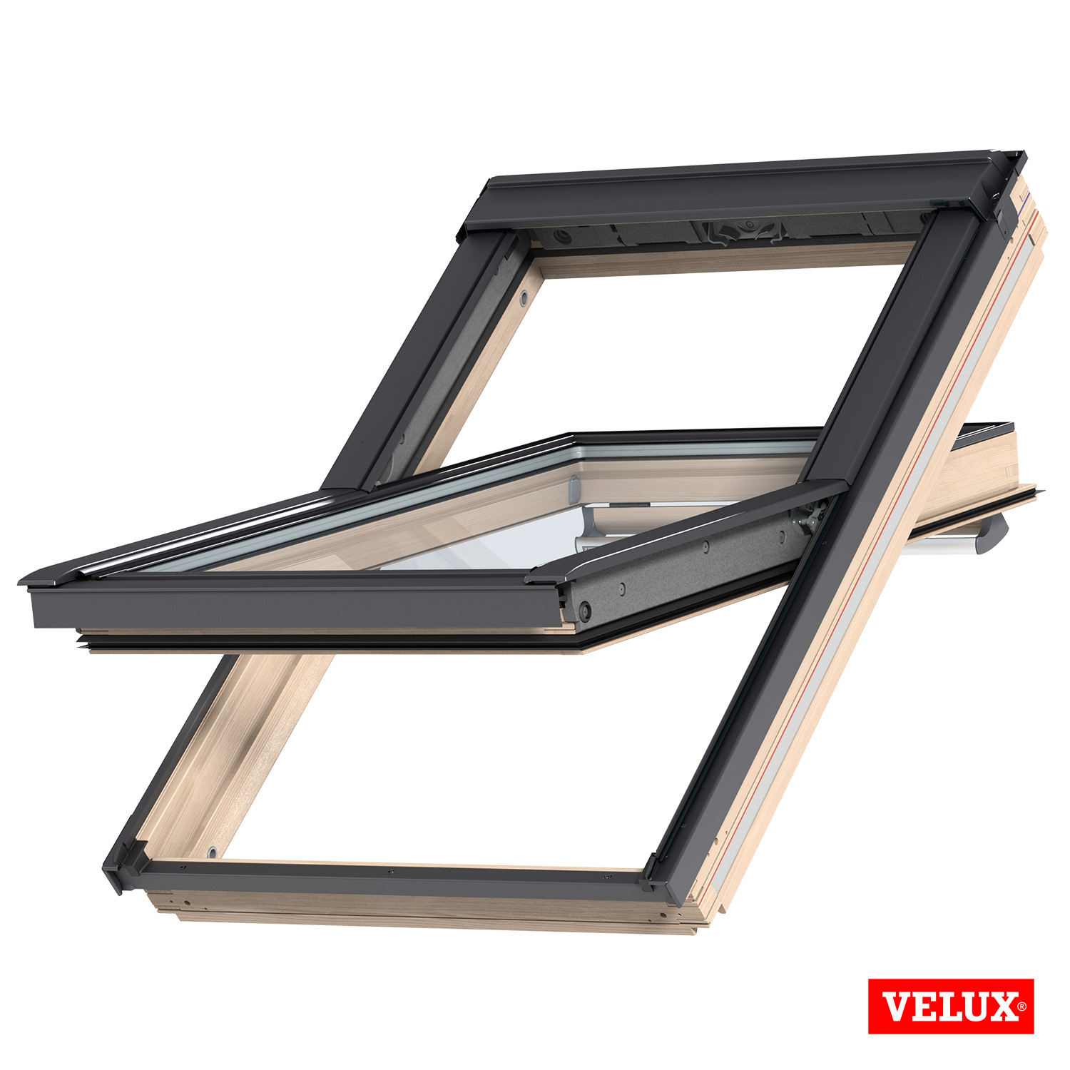 Velux Roof Window Ggl 3070 Pine Centre Pivot With Flashing Kit Ebay
