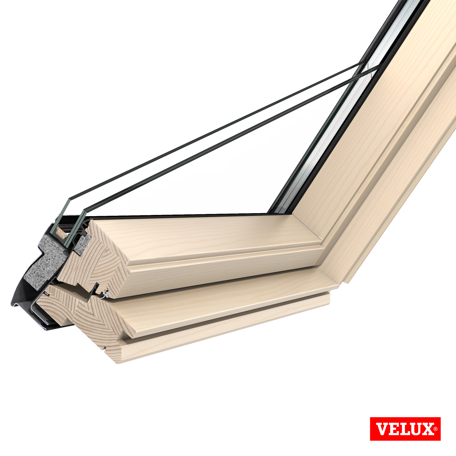 Details About Velux Ggl 3070 Centre Pivot Pine Roof Window With Flashing Kit