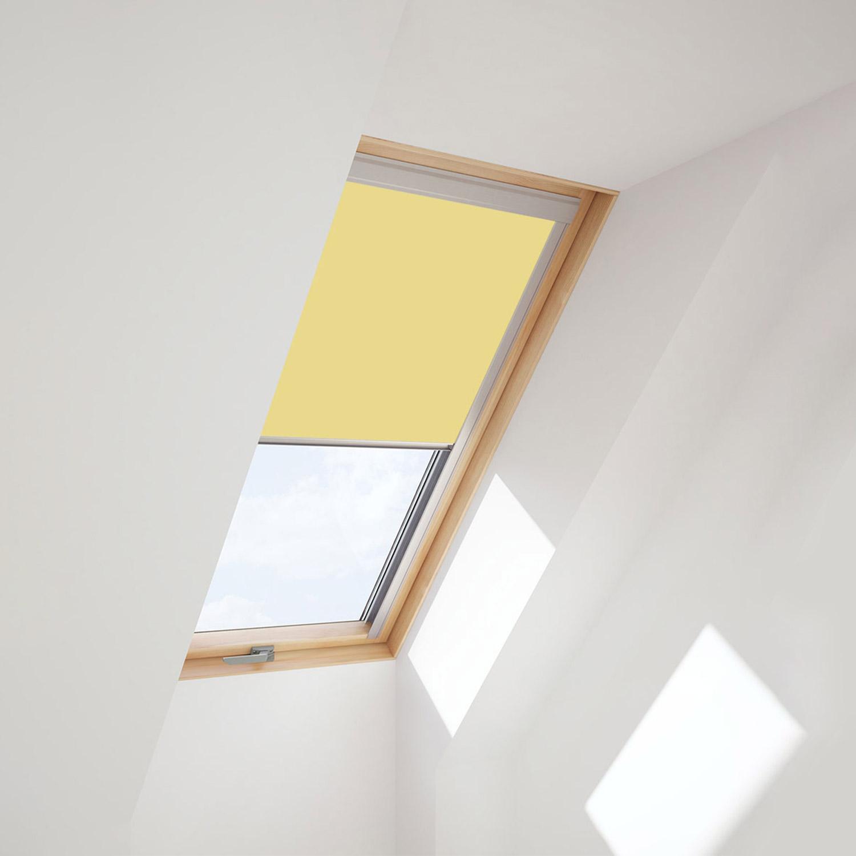 dachfensterrollo f r velux dachfenster verdunkelungsrollo. Black Bedroom Furniture Sets. Home Design Ideas