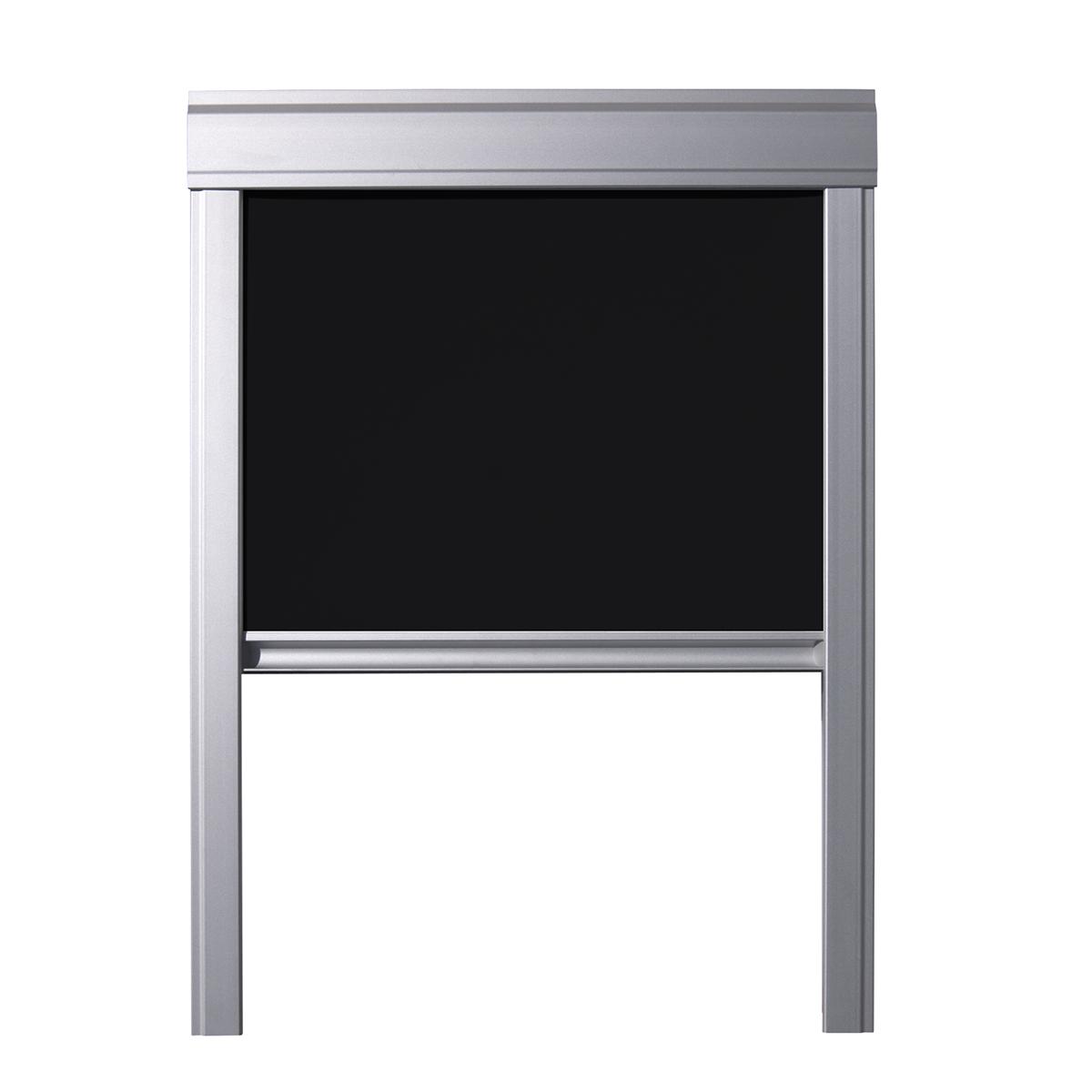 store occultant pour fen tre de toit velux en blanc gris. Black Bedroom Furniture Sets. Home Design Ideas