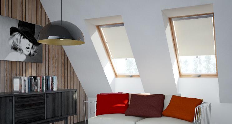 Store rideau enrouleur pour fen tre de toit velux de - Rideau fenetre de toit ...