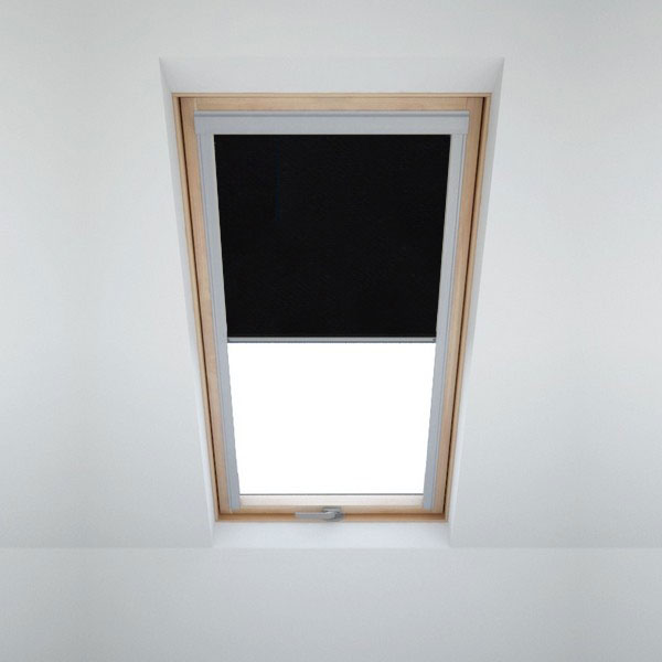dachfensterrollo f r velux dachfenster verdunkelungsrollo von itzala ebay. Black Bedroom Furniture Sets. Home Design Ideas